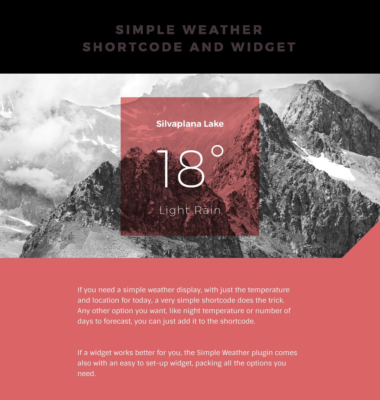 Weather WordPress Shortcode & Widget - Simple Weather Plugin 2