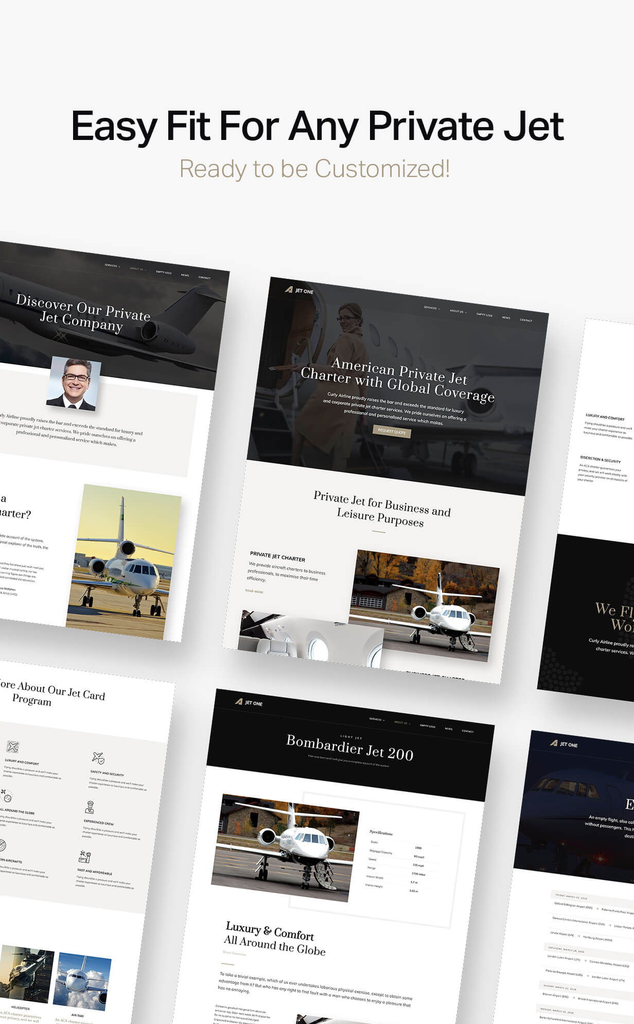 Jet One - Private Airline WordPress Theme - 4