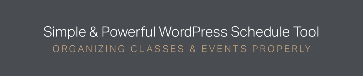 Events Schedule - WordPress Plugin 2
