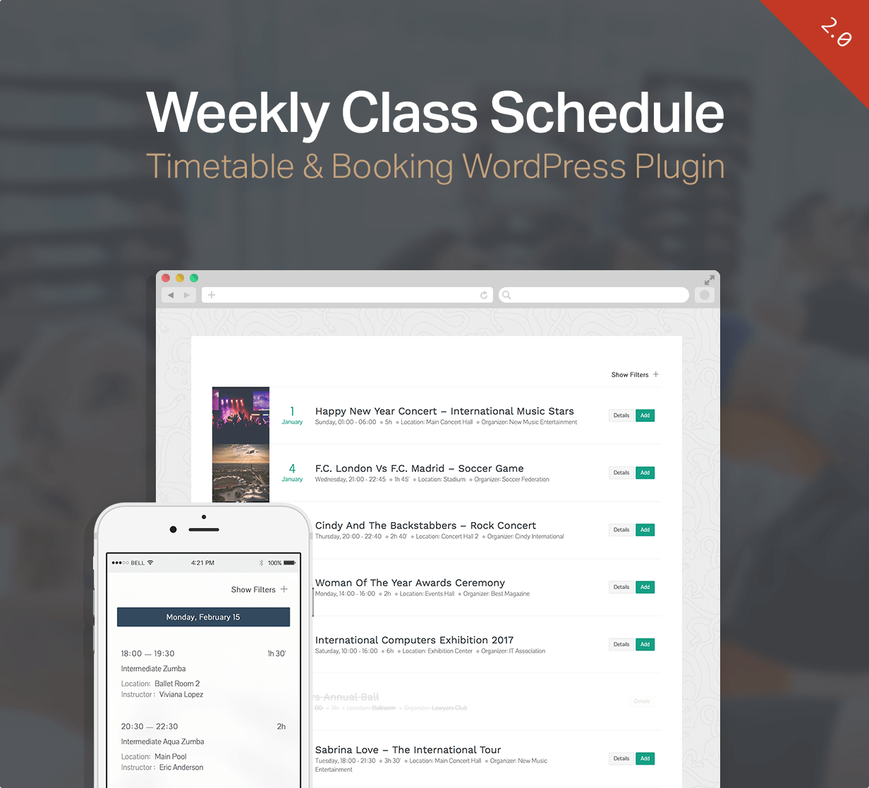 Events Schedule - WordPress Events Calendar Plugin - 5